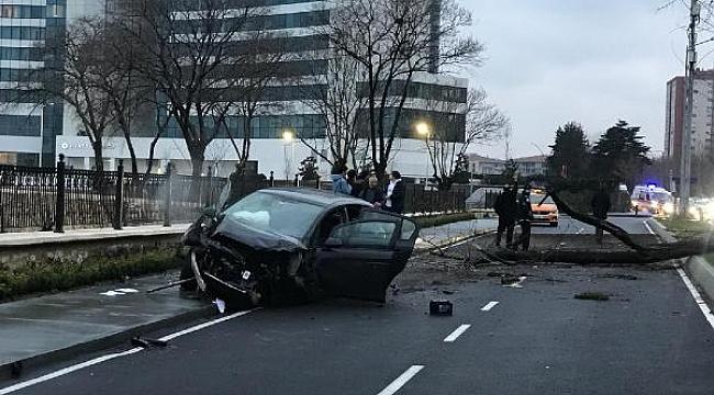 Feci kaza... Cadde savaş alanına döndü