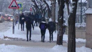 İnegöl buz kesti - Bursa Haber