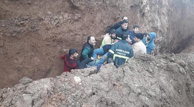 Mardin'de acı olay! Kanalizasyon kazısında toprak altında kalan işçi öldü