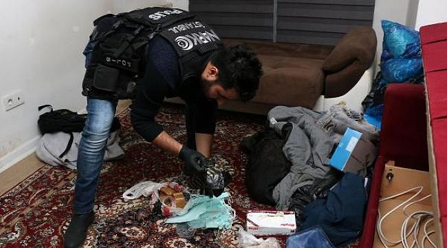 Rezidansta uyuşturucu imalathanesi çıktı
