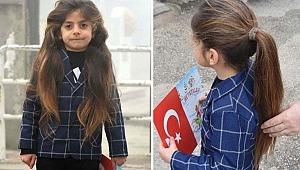 Saçına 8 yıldır makas değmeyen Baran, karne aldı - Bursa Haber