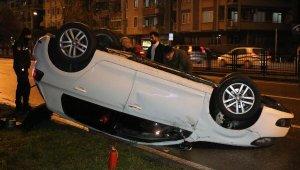 Samsun'da trafik kazası! Takla atan otomobil sürücüsü, kayıplara karıştı
