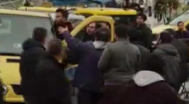Taksim Meydanı'nda korna kavgası...
