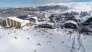 Uludağ'da kayak keyfi drone ile görüntülendi - Bursa Haber