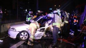 11 aracın birbirine girdiği zincirleme trafik kazasında ortalık savaş alanına döndü!
