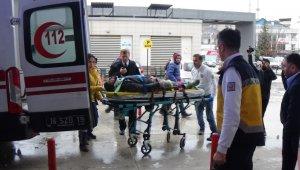 Fabrikanın menfezine düşen işçi ölümden döndü - Bursa Haberleri
