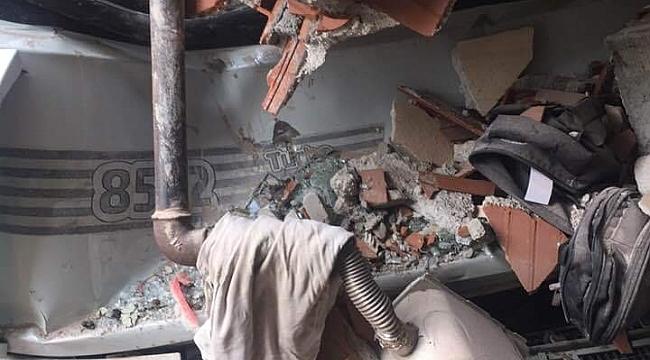 Freni patlayan kamyon yatak odasına daldı - Bursa Haberleri