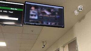 Hastanede şok görüntü