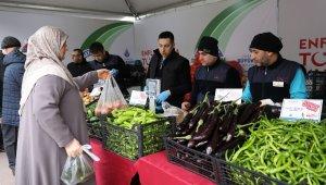 İstanbul'da tanzim satışında tonlarca sebze alındı