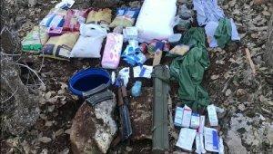 Mardin'de 25 kilo patlayıcı ve silahlar ele geçirildi