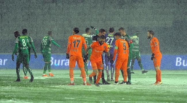 Medipol Başakşehir - Bursaspor maçına kar engeli - Bursa Haberleri