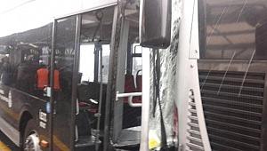 Metrobüs kazası: Yaralılar var