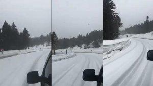 Uludağ'a yağan kar sevindirdi - Bursa Haberleri