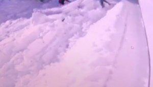 Uludağ'da kar kütlesinin çökme anı - Bursa Haberleri