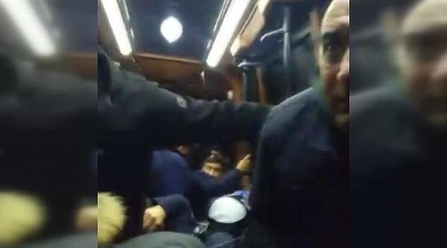 Yolcu Dolu Minibüste Dehşet! Gözü Dönmüş Saldırganlar Minibüsü Taradı