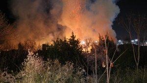 4 metruk bina alev alev yandı