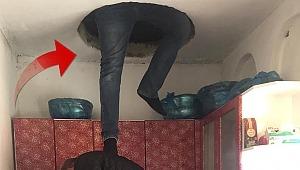 8 suçtan aranan kadın tavan arasında yakalandı