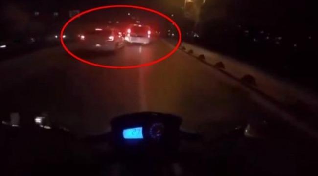 Ambulansa yol vermeyen sürücüye polisin müdahalesi alkış topladı