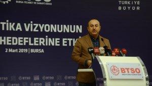 """Bakan Çavuşoğlu: """"Ekonominin gücü 140 kilometre hızla batıdan doğuya doğru gidiyor"""" - Bursa Haberleri"""