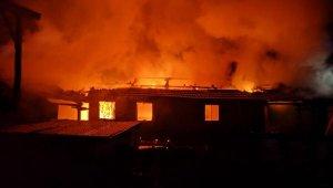 Bursa'da gece yarısı yangın! iki ev alev alev yandı - Bursa Haberleri