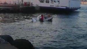 Denize uçan araçtan çocuk böyle kurtarıldı