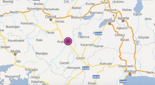 Denizli'de art arda şiddetli depremler