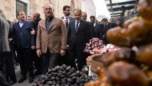 Dışişleri Bakanı Çavuşoğlu Tarihi Kapalı Çarşıyı gezdi - Bursa Haberleri