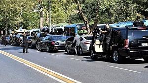 Erdoğan'ın konvoyuna eşlik eden polisler kaza yaptı, 5 yaralı