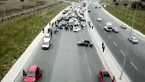 İstanbul'da milyonluk otomobillerle terör estirdiler