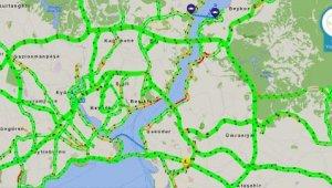 İstanbul'da trafik yoğunluğu yüzde 1