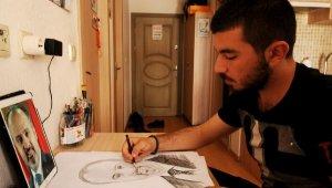 Kedi ve köpek maması getirene portre çizim bedava - Bursa Haberleri