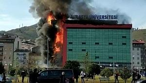 Üniversite kampüsünde yangın