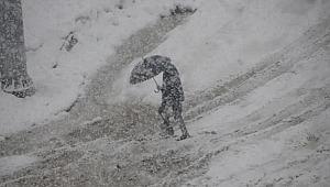 Yüksekova'da kar kalınlığı 10 cm'ye ulaştı