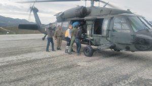 9 aylık bebeğin imdadına askeri helikopter yetişti