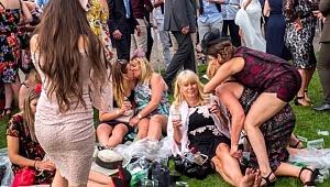 At yarışını izlemeye giden İngilizler, yine alkolün dozunu kaçırdı