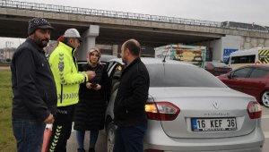 Kadın sürücü kazanın şokuyla ağladı, yaralı tedaviyi reddetti - Bursa Haberleri