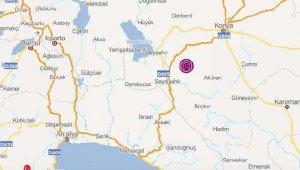Konya'da korkutan iki deprem