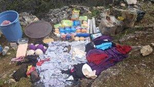 Mağarada PKK'lı teröristin cesedi ve patlayıcı bulundu
