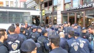 Polis, Taksim'de Soma protestosuna izin vermedi