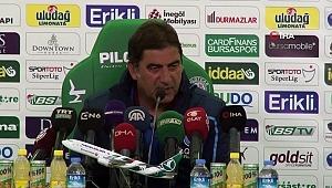 """Ünal Karaman: """"Şiddetli 3 puana ihtiyacı olan Bursaspor'u evinde yenmek sevindirici"""""""