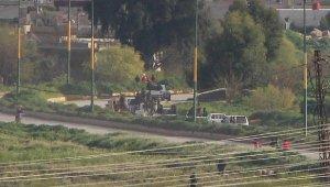 YPG'li teröristlerin Suriye'deki konvoyu görüntülendi