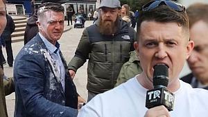 Aşırı sağcı siyasetçinin uğradığı saldırı kameralarda