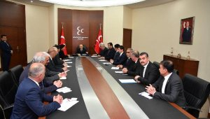 Bahçeli, partisinin 15 il başkanıyla bir araya geldi