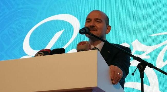 """Bakan Soylu: """"Bizim yerimiz Cumhuriyet Halk Partisi'nin tam karşısıdır"""""""