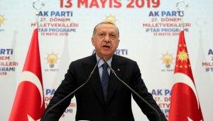 """Cumhurbaşkanı Erdoğan: """"Cevap çok basit, oyları çaldılar"""""""
