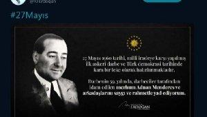 Cumhurbaşkanı Erdoğan'dan '27 Mayıs' mesajı