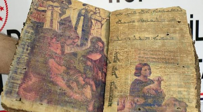 Diyarbakır'da bulundu... 1400 yıllık dini motifli kitap