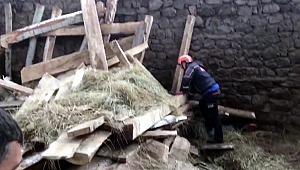 Erzurum'da ahır inşaatında çökme: 1 ölü, 3 yaralı