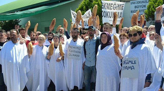 Esnaftan kefenli protesto - Bursa Haberleri