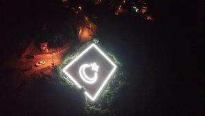 Gemlik'te dev Türk bayrağı yeniden ışıl ışıl - Bursa Haberleri